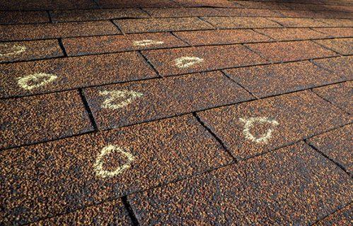 Roof Hail Damage in Denver CO, Brighton CO, Longmont CO